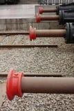 Frenos hidráulicos para los trenes Fotografía de archivo libre de regalías