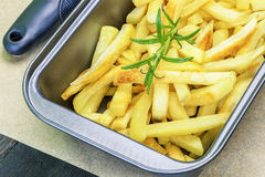 Frensh fries with rosemary Stock Photos