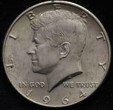 Förenta staterna 1964 försilvrar den halva dollaren Arkivfoto