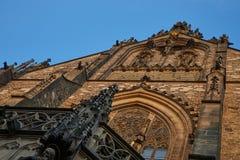 Frente adornado de la iglesia Foto de archivo libre de regalías
