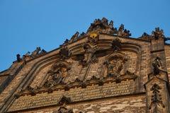 Frente adornado de la iglesia Fotos de archivo libres de regalías