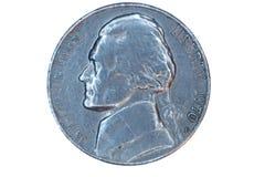 Frente aislado del níquel de los E.E.U.U. Imágenes de archivo libres de regalías