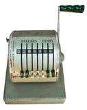 Frente antiguo de la caja registradora Imagenes de archivo