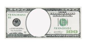Frente de Bill de dólar 100 ninguna cara Fotografía de archivo libre de regalías