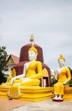 Frente de Buda de la pagoda en templo tailandia Imagenes de archivo