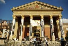 Frente de Kunsthalle en Budapest Imagenes de archivo