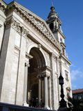 Frente de la basílica del St. Stephen Imagen de archivo