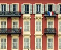 Frente de la casa en Niza Foto de archivo libre de regalías