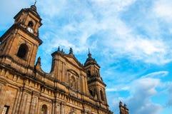 Frente de la catedral de Bogotá Imágenes de archivo libres de regalías