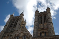 Frente de la catedral de Lincoln Foto de archivo libre de regalías