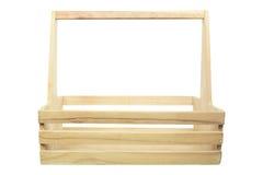 Frente de la cesta de madera vacía usada para empaquetar el aislante Imágenes de archivo libres de regalías