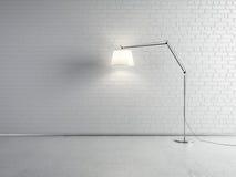 Frente de la lámpara de una pared de ladrillo imagenes de archivo