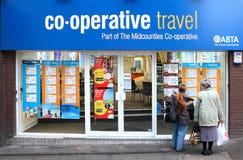 Frente de la tienda de los agentes de viajes Fotos de archivo