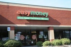 Frente de la tienda del dinero fácil imagenes de archivo