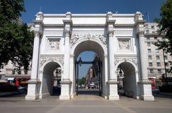 Frente de mármol del arco Imagen de archivo libre de regalías