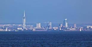 Frente de mar de Portsmouth con el Spinnaker Imágenes de archivo libres de regalías