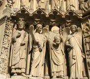 Frente de Notre Dame en París Foto de archivo