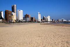 Frente de oro de la playa de la milla en Durban Suráfrica Fotografía de archivo libre de regalías