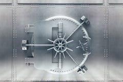 Frente de plata de la cámara acorazada de banco