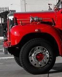 Frente de un firetruck histórico viejo Imagen de archivo