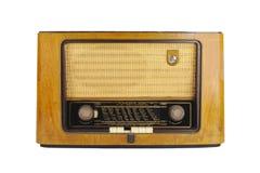 Frente de una radio retra vieja Fotografía de archivo libre de regalías