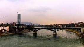 Frente del agua de Basilea Imágenes de archivo libres de regalías