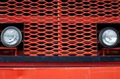 Frente del carro de mina gigante de la vendimia Fotografía de archivo
