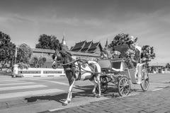 Frente del carro del caballo del templo de Wat Phrathat Lampang imagenes de archivo