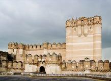 Frente del castillo de la coca imagen de archivo libre de regalías