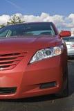 Frente del coche híbrido. Imagen de archivo