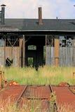 Frente del depósito ferroviario viejo Foto de archivo