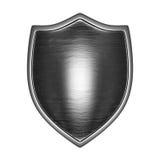 frente del escudo de plata encendido Imagenes de archivo