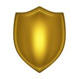 Frente del escudo del oro encendido Fotos de archivo libres de regalías