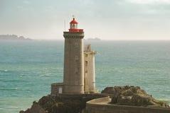Frente del faro del océano Fotografía de archivo libre de regalías