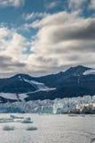 Frente del glaciar en la oscuridad Imágenes de archivo libres de regalías