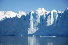 Frente del hielo de Perito Moreno foto de archivo