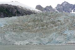 Frente del hielo de un glaciar de marea Imágenes de archivo libres de regalías