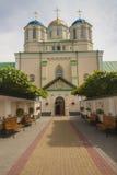 Frente del monasterio en Ostroh - Ucrania. Fotografía de archivo