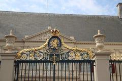 Frente del palacio de trabajo Noordeinde de rey Willem Alexander en Den Haag imagenes de archivo