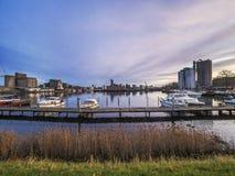 Frente del puerto de Odense jpg imagen de archivo