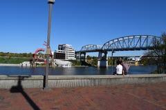 Frente del río de Nashville Foto de archivo