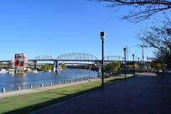 Frente del río de Nashville Fotos de archivo libres de regalías