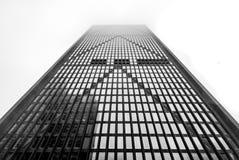 Frente del rascacielos - simetría y poder - un lugar de Boston, blanco y negro, aspecto de Lanscape imagen de archivo libre de regalías