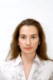 Frente del retrato de la muchacha Fotos de archivo libres de regalías