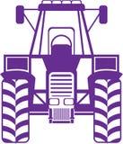 Frente del vector del tractor Imágenes de archivo libres de regalías