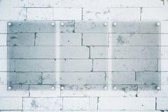 Frente en blanco de las placas de cristal Imagen de archivo libre de regalías