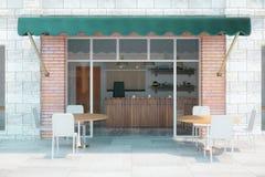 Frente exterior del café Imagen de archivo libre de regalías