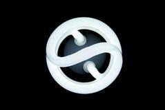 Frente fluorescente compacto del bulbo Imagen de archivo libre de regalías