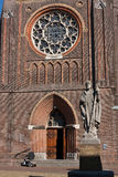 Frente impresionante de la catedral Imagen de archivo