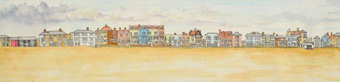 Frente marítima de Aldeburgh Imagens de Stock Royalty Free